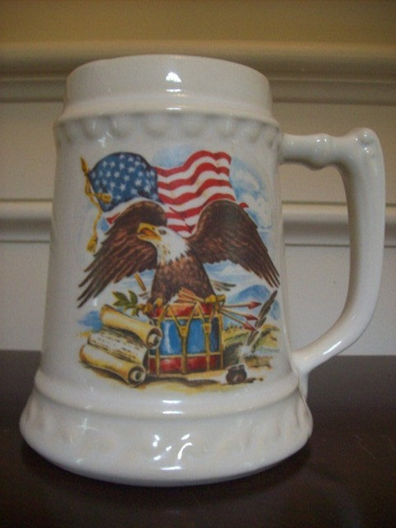Eagle and Old Glory - McCoy Pottery Stein