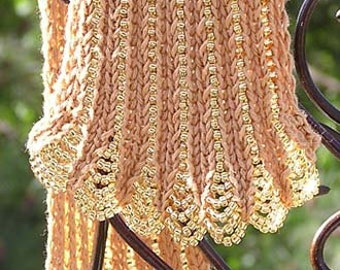 Art Deco Beaded Scarf Pattern