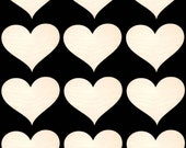 Heart Shapes  Natural Craft Wood Cutout 335