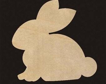 Rabbit Bunny Shape Natural Unfinished Wood Cutout 500
