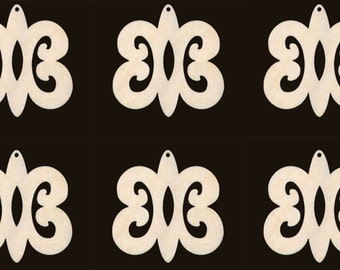 Africa Adinkra HYE WON HYE symbol of  Endurance  Natural Craft Wood Cutout 403