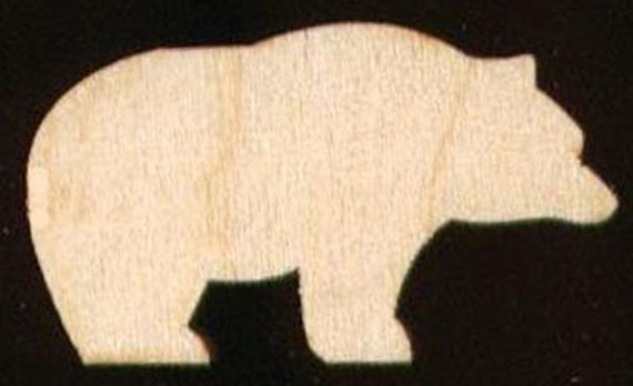 Bear Animal Shape Unfinished Craft Wood Cutout 440