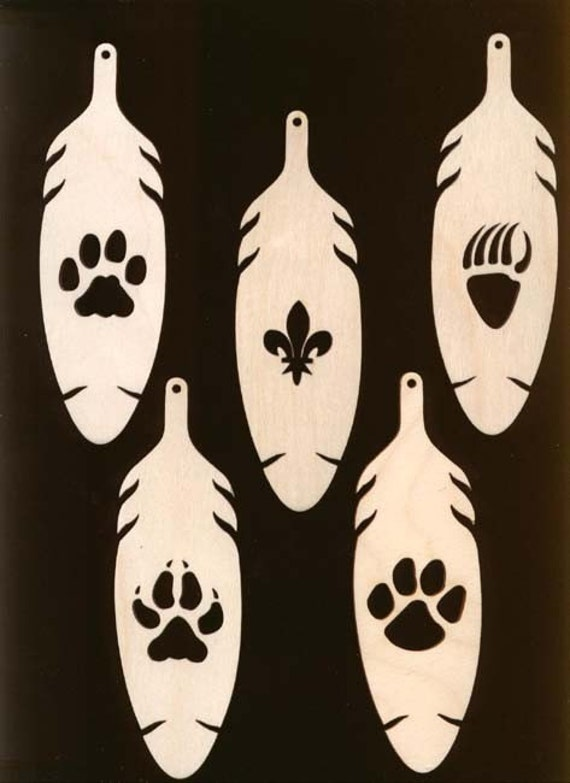 5 piece cub scout ranks fleur de lis bobcat wolf tiger for Cub scout ornament craft