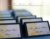 Digital Wildflower Placecard Template (Colors of Choice)-editable in word