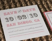 Digital Vintage Save the Date Templates 5x5 in size (In colors of choice)