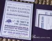Digital Oaktree Pocketfold Invitation Template Package (Includes 4 templates) In colors of choice