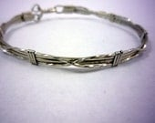 MADE TO ORDER Wire-Wrapped Silver Bangle Bracelet