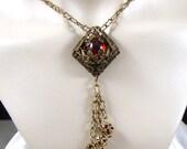 Reserved for Mae Melisandre Red Renaissance Necklace