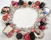 Oh, Marilyn -  Altered Art Beaded Charm Bracelet