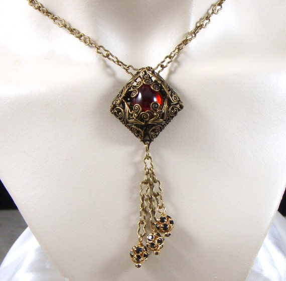 Reserved for Mae Melisandre Red Renaissance Necklace