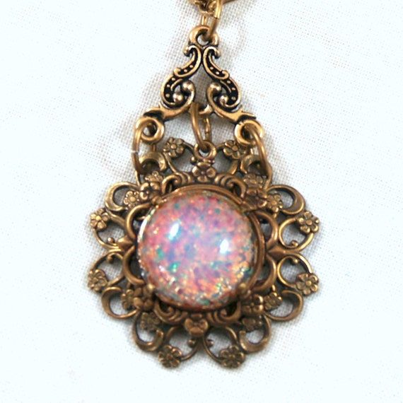 Opal and Filigree Necklace