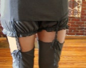 Cosette Gray Stockings and Garter Belt - custom size