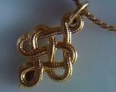 Vintage Avon Traditional Celtic Knot Charm/ Necklace