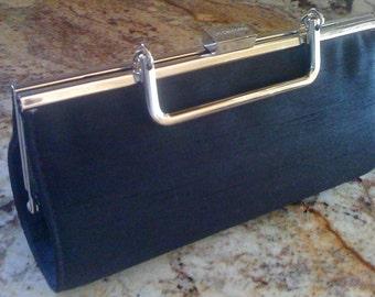 2Days Sale Vintage 80s Handbag Designer Liz Clairborne Purse Evening Clutch Classy Top Handle Bag
