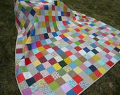 Quilt--Patchwork Quilt--handmade--Queen Size--Classic Americana--93 X 93--made to order
