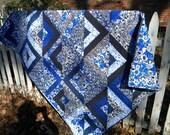Patchwork quilt--52 X 66--Graphic Elegance by Elizabeth's Studio--cotton--Ready to Ship