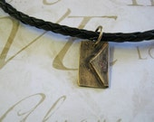 Men's Love Letter Personalize Leather Necklace -  Free Shipping USA