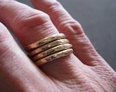 14K Gold Filled Hammered Ring