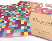 Japanese Origami Paper Small Checks Origami Paper With Folding Instructions ( 20 sheets total )