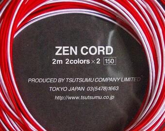Mizuhiki Red White Cords Japanese Mizuhiki Zen Cord Set of 4 cords each 2m long