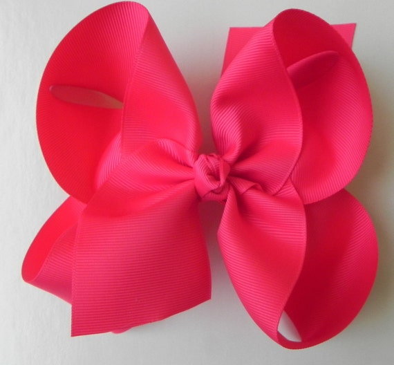 SALE - 20% Off -Set of 6 Extra Large 6 Inch Hair Bows -  U Pic Colors - Hair Clip -Girls Hair Bow