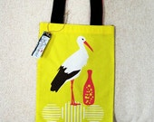SALE - The Stork and the Pitcher : Tote Bag