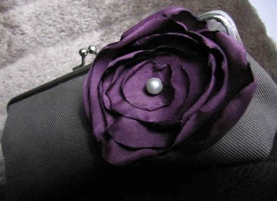 Purple Plum Clutch Purse