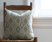 seafoam honeycomb pillow