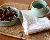 Gray Ships Tea Towel