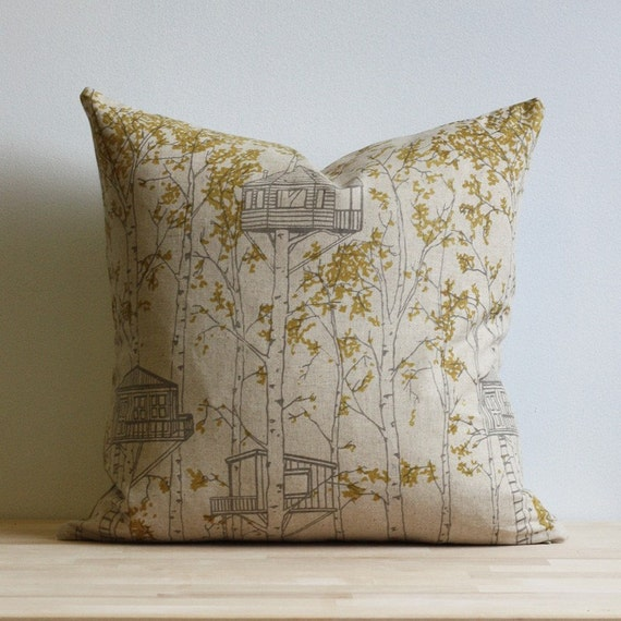 treehouse pillow cover