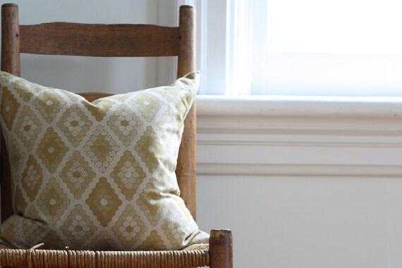 yellow honeycomb pillow