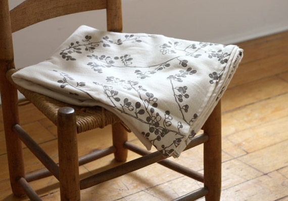 reserved for tmorre1 - organic cotton blanket - gray berries