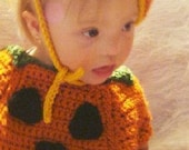 Pumpkin Outfit for Children 6months to 2T Crochet Pattern PDF 454