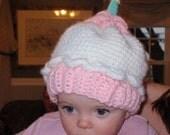 1st Birthday Cupcake Hat for Girls crochet pattern pdf 497