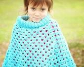 Mommy and Me Poncho Set Crochet Pattern PDF 490