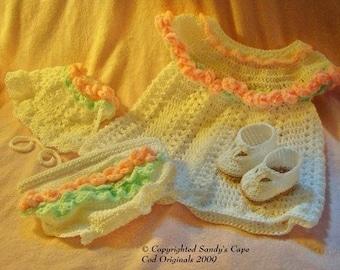 Adorable Crochet Dress Set for Summer 0-6months PDF 135