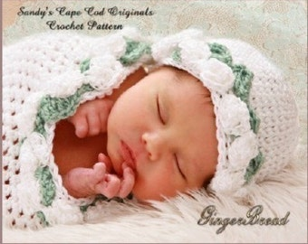 Preemie Crochet Pattern to make Precious Angel Cocoon Beanie pdf 176