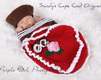 Valentine Box of Chocolates Crochet Pattern Cocoon and Beanie PDF 359 Great for Photo Props