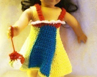 Beach Crochet Pattern for 18inch doll  PDF 159