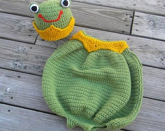 Toddler Frog Prince Costume Crochet Pattern PDF 456