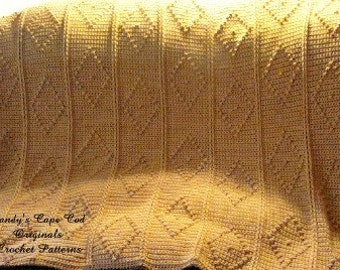 David and Kelly's Wedding Fisherman Afghan Crochet Pattern pdf 407