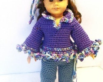 That 70s look Crochet Pattern for 18inch doll pdf 383
