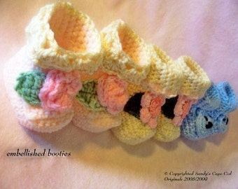 Baby Booties Crochet Pattern PDF 106