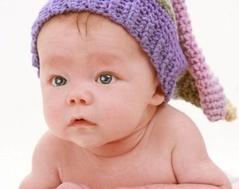 Jester Hat for newborn to 12months old Crochet Pattern PDF 283