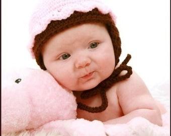 Infants to Adults Cupcake Hat Crochet Pattern PDF 219