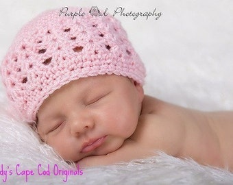 Shell Beanie  Crochet Patterns PDF 363 baby weight version