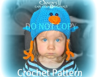 Bluebird Hat Crochet Pattern PDF 565 Infant to Adult sizes to make