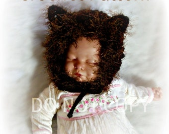 Baby Lion Bonnet Crochet Pattern pdf 571 infant to 3T sizes to make Great Photo Prop
