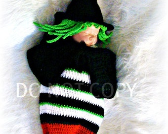 Witch from the East Cocoon Inspired by the Wizard of Oz Crochet Pattern PDF 585