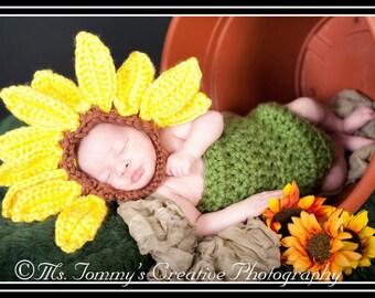 Sunflower Crochet Pattern Chunky Body Suit pdf608